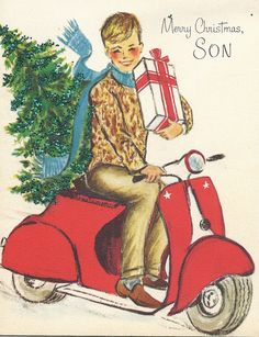C301 Vintage Christmas Greeting Card by Paramount by jarysstuff
