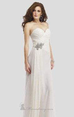 Strapless Drape Wedding Gown by Colors Dress 0279