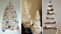 As we all know that many of us loves Christmas, because it's time for the whole family to get together, have a dinner together and chat ti. Tabletop Christmas Tree, Ladder Decor, Recycling, Holiday Decor, Dinner, Ideas, Home, White Christmas, Decorated Christmas Trees