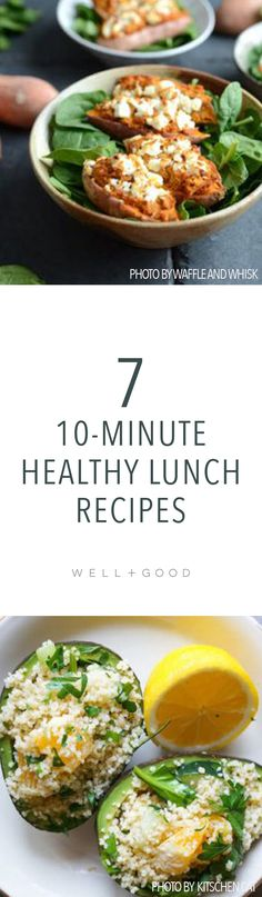 10-minute healthy lunch recipes to make