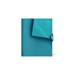 "Ulysse Hermes leather notebook cover in turquoise 9.8"" x 12""<br />Leather tab with silver and palladium snap closure, Togo calfskin.<br><br><span style=""color: #F60;"">This item may have a shipping delay of 1-3 days.</span><br><br>"