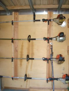 My Husbands Clever Weed Eater Hangers Diy Garage