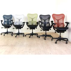 Used Herman Miller Mirra Chairs available in a wide spectrum of colours! Only £285!