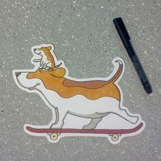 Beagle sticker! #adhesiveart #cutecoolawesome
