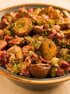 Roasted Potato Bacon Salad- This is something I need to try....only a tablespoon of mayo!