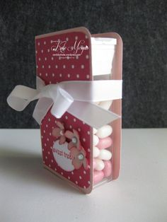 Tic Tac Box – Kate Morgan, Independent Stampin Up! Gift Cards Money, Treat Holder, Craft Show Ideas, Candy Gifts, Scrapbook Paper Crafts, Valentines Diy, Little Gifts, Craft Fairs, Diy Gifts