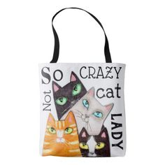 Cat Lady Funny Cute Art Typography Throw Pillow Tote Bag - typography gifts unique custom diy