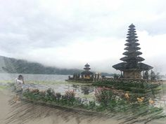 Beautiful temples at Bali