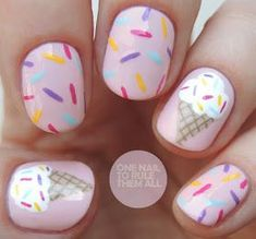 One Nail To Rule Them All: Ice Cream Nails