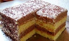 Cake from sour cream. Baking Recipes, Cake Recipes, Dessert Recipes, Desserts, Good Food, Yummy Food, Romanian Food, Sweet Pastries, Food Cakes