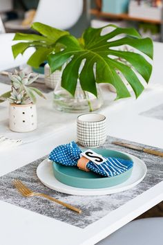 Our Gold Flatware is the perfect addition to this Father's Day Brunch   Photo from Paper Stitch Blog.