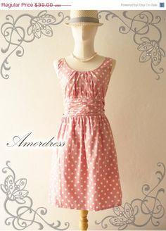 Amor Vintage Inspired Polka Dot Pale Pink by Amordress, $35.50