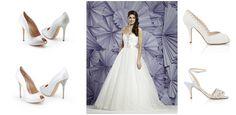 Shoe style inspiration: TL: Aruna Seth TR: Charlotte Mills Bridal   BL: Aruna Seth   BR: Charlotte Mills Bridal  Wedding Shoe Style Inspiration - Nu Bride