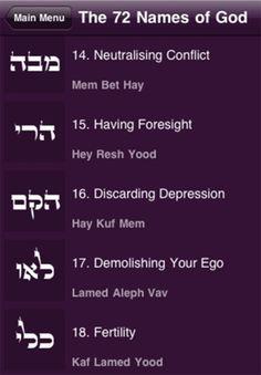 72 names of God / 72 nombres de Dios #Kabbalah