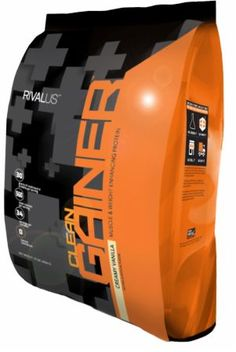 RIVALUS Clean Gainer Protein Creamy Vanilla 10 Lbs. RIV4240212 Creamy Vanilla - Ideal For Between Meals And Before Bed To Feed Muscles And Gain Weight