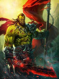 Broxigar The Red - The REAL badass in Warcraft. by sljix.deviantart.com on @DeviantArt