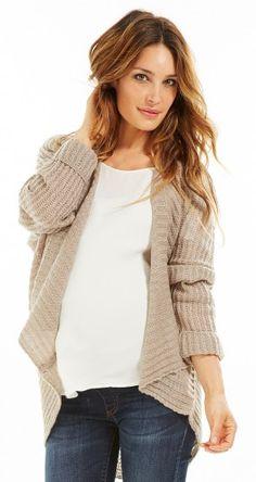 cardigan-grossesse-long-ouvert-beige by Envie de Fraises Future Maman, Beige Cardigan, Maternity Fashion, Pulls, Ali, Pregnancy, Women's Fashion, Sweaters, Style