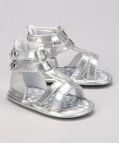 Take a look at this Silver Lil Greta Gladiator Sandal by Natural Steps on #zulily today!