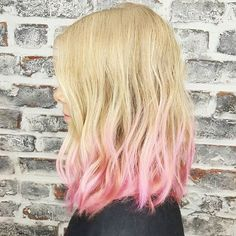 Baby pink fade and mid-length vibes by Nick.