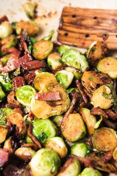 Paleo Balsamic Brussels Sprouts with Bacon (Weight Watchers 4 Points)