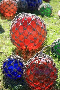 Warrenton, TX Antique Market - Day in the Fields.  Glass Balls