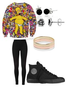 """""""Untitled #33"""" by zemkool ❤ liked on Polyvore featuring Converse, Bling Jewelry and Witchery"""