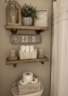 A collection of decor behind the toilet from hobby lobby, home goods, and Kirkland's room decor hobby lobby Bathroom decor Kirkland Home Decor, Home Projects, Home Remodeling, Farmhouse Decor, Farmhouse Style, Diy Home Decor, Wood Home Decor, Sweet Home, Decor Pillows
