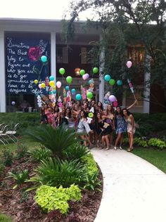 cute welcome into AOII house on bid day! this would be cool instead of the usual signs