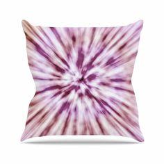 KESS InHouse MM1109AOP03 18 x 18-Inch 'Nika Martinez Spring Tie Dye Pink Urban' Outdoor Throw Cushion - Multi-Colour