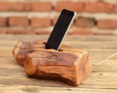 iPhone Docking Station Solid Wood iPhone Stand by WoodRestart