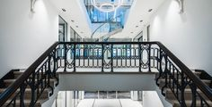 Casper Schwarz Architects, JonesDay Amsterdam, interior design, classic staircase
