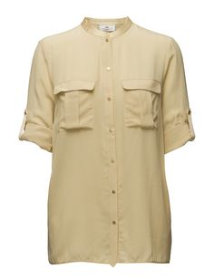 DAY - Day Fan-Front button placket Loose fit Mandarin collar Silk is a naturally lightweight fiber that creates a lustrous finish. Elegant and feminine Mandarin Collar, Front Button, Loose Fit, Fiber, Men Casual, Feminine, It Is Finished, Fan, Silk
