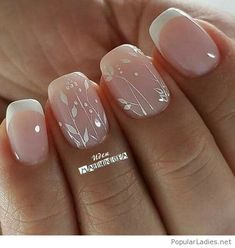 French nails with print