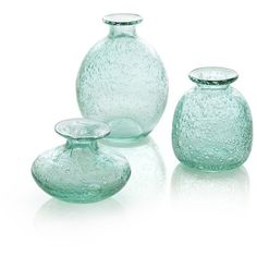 Crate & Barrel 3-Piece Mae Bud Vase Set (31 CAD) ❤ liked on Polyvore featuring home, home decor, vases, fillers, decor, set of three vases, crate and barrel, set of 3 vases and bubble vase
