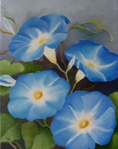 Nel's Everyday Painting: Morning Glories, Face and Grouping - SOLD