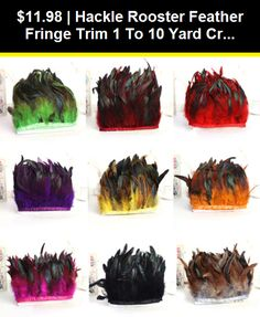 Hackle Pheasant feather Fringe Trim 1 yards or 5 yards Craft//Sewing//Costume