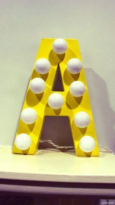 make a gif at gickr.com    DIY light Letter for $11!