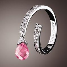 901614955bc811 Bague Frisson en or blanc, diamants et tourmaline rose de Chaumet - Bijoux  tourmaline