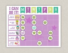 Hey, I found this really awesome Etsy listing at https://www.etsy.com/listing/173620992/printable-reward-chart-chore-chart-pack