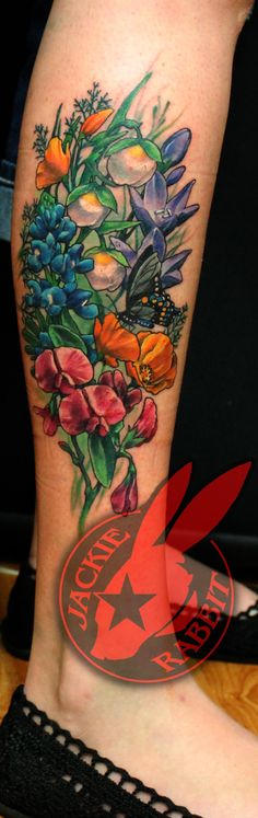 8c5c2d233c16a California Wildflowers Tattoo by Jackie Rabbit by jackierabbit12 on ...  Tummy Tuck Tattoo,