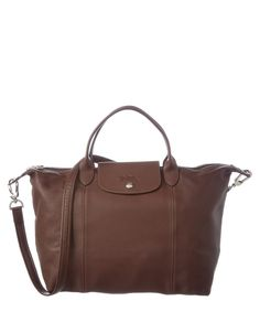 LONGCHAMP Longchamp Le Pliage Cuir Leather Medium Handbag'. #longchamp #bags #shoulder bags #hand bags #leather #lining #