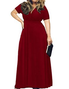 439899dad89 Product Features Plus Size Maxi Dresses For Women With Short Sleeves For  Special Occasions. This Oversized Dress Can Be Worn As Evening Dresses