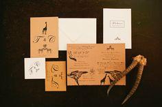 lion king inspired wedding invitations