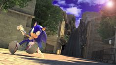 Sonic the Hedgehog - in Spagonia (Sonic Unleashed) The Sonic, Sonic Art, Sonic The Hedgehog, Sonic Videos, Sonic Unleashed, Speed Of Sound, Sonic Franchise, Video Game Characters, Concept Art