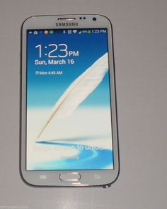 #BUYITNOW - Samsung Galaxy Note 2 II 4G Android 4.1 Smartphone 16GB White SPHL900WTS