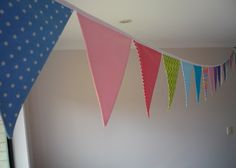 Bunting Flags - Carnival Fun a colourful Banner. $45.00, via Etsy.