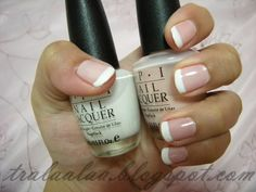 French Manicure Colors using OPI? Alpine snow; Second Honeymoon- pink color 2 coats of pink