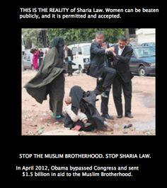 Stop the Muslim Brotherhood. Stop Sharia law.