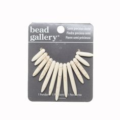 Buy the Bead Gallery® Reconstituted Stone Spike Pendant, White at Michaels.com. Create a trendy necklace to accessorize your favorite outfits using this Bead Gallery® Reconstituted Stone Spike Pendant.