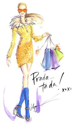 #Prada #illustration #art #design #print #inspiration #FashionIllustration #FashionPrint #VogueAnimation